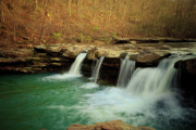 Arkansas Posters - King River Falls in Springtime Poster by Iris Greenwell