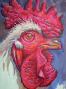 Po-po Paintings - King Rooster by Snjezana Mekic Delic