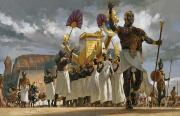 Leopard Skin Framed Prints - King Taharqa Leads His Queens Framed Print by Gregory Manchess