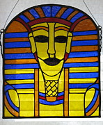 Egypt Glass Art - King Tut  by Shelly Reid
