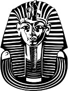 Egyptian Mummy Prints - King Tutankhamun Mask Print by Stock Foundry