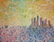 High Rise Paintings - Kingdom of Heaven by Arlissa Vaughn