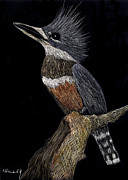 Kingfisher Mixed Media - Kingfisher by Linda Hiller