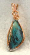 Handcrafted Jewelry - Kingman Turquoise pendant by Linda Ray