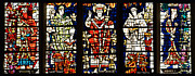 Kings And Holy Men Medieval Stained Glass Collage Print by Lisa Knechtel