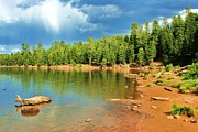 Canyon Lake Prints - Kings Canyon Lake  Print by Julie Lueders