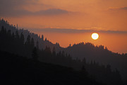 Kings Canyon National Park Posters - Kings Canyon Smokey Sunset Poster by Buck Forester