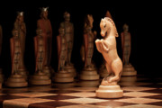 Chess Piece Framed Prints - Kings Court II Framed Print by Tom Mc Nemar