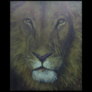 Big Cat Paintings - Kings Glare by John Shook