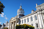 Kingston City Hall Framed Prints - Kingston City Hall Framed Print by Charline Xia
