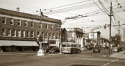 Kingston Prints - Kingston Corners Kingston PA Early 1950s Print by Arthur Miller