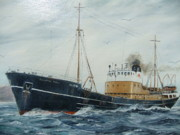 Trawler Metal Prints - Kingston Jade Metal Print by Reg Moss