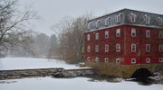 Kingston Prints - Kingston Mill in Winter Storm Print by Steven Richman