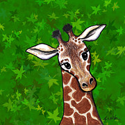 Kim Niles Digital Art - KiniArt Giraffe by Kim Niles