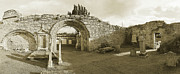 Historic Ruins Photos - Kinloss Abbey 1150 AD by Jan Faul