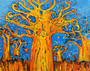 Baobab Paintings - Kinondo Kwetu Baobab by Geraldine Robarts