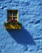 Colored Facades Posters - Kinsale, Co Cork, Ireland Cottage Window Poster by The Irish Image Collection