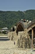 Wooden Prints - Kintai Bridge Iwakuni Japan Pt Print by Andy Smy