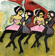 Costume Metal Prints - Kirchner: Panama Girls Metal Print by Granger