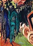 Early Prints - Kirchner: Street Scene Print by Granger