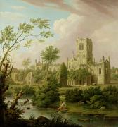 Ruins Photos - Kirkstall Abbey - Yorkshire by George Lambert