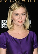 Bobbed Hair Posters - Kirsten Dunst At Arrivals For Bvlgari Poster by Everett