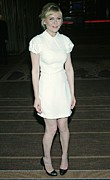 Cap Sleeves Framed Prints - Kirsten Dunst Wearing A Miu Miu Dress Framed Print by Everett