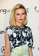 2010s Hairstyles Photo Framed Prints - Kirsten Dunst Wearing A Rodarte Dress Framed Print by Everett