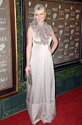 Floor-length Framed Prints - Kirsten Dunst Wearing A Valentino Gown Framed Print by Everett