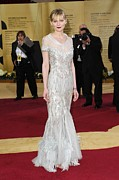 Beaded Dress Framed Prints - Kirsten Dunst Wearing Chanel Haute Framed Print by Everett