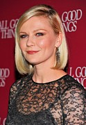 Diamond Earrings Framed Prints - Kirsten Dunst  Wearing Fred Leighton Framed Print by Everett
