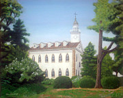 Romney Paintings - Kirtland Temple by James Violett II