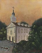 Fall Color Painting Posters - Kirtland Temple Poster by Jeff Brimley