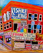 Hamburger Paintings - Kishka King Pitkan Avenue by Michael Litvack