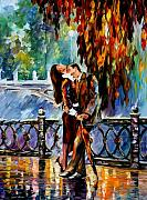 Rain Paintings - Kiss After The Rain by Leonid Afremov