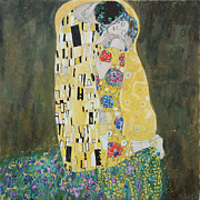 Copy Paintings - Kiss Copy of Gustav Klimt by Juliya Zhukova