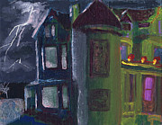 Haunted House Paintings - Kiss House by Jamie Hartley