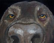 Dog Paintings - Kiss My Nose by Roger Wedegis