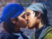 African-american Paintings - Kiss Number Four by Forrest King