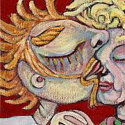 Featured Paintings - Kiss on the Nose by Michelle Spiziri