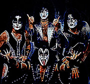 All-metal Photo Posters - Kiss Poster by Paul Ward