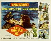 Kiss Me Prints - Kiss Them For Me, Cary Grant, Suzy Print by Everett