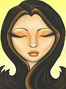 Woman Portrait Posters - Kissed By The Sun Poster by Elaina  Wagner
