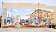 Historic Florida Framed Prints - Kissimmee Street Mural Framed Print by David Lee Thompson