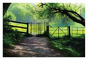 Unreal Painting Prints - Kissing Gate Print by Helen Parsley