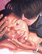 Paint Pastels - Kissofawoman by Angela Mustin