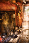 Pans Prints - Kitchen -  Colonial Kitchen II Print by Mike Savad