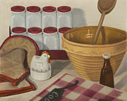 Antiques Paintings - Kitchen 5 Senses by Kathy Montgomery