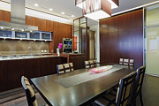 Condominium Prints - Kitchen and Dining Space Print by Jeremy Woodhouse