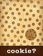 Kitchen Art - Cookie Print by Linda Tieu